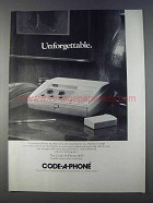 1980 Code-A-Phone 1450 Ad - Unforgettable