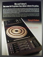 1980 Bang & Olufsen Beosystem 2000 Ad - Can't Deny It