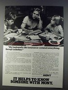 1980 MONY Life Insurance Ad - Except Inflation