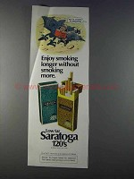 1980 Saratoga 120's Cigarettes Ad - Enoy Smoking Longer