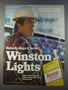 1980 Winston Lights Cigarettes Ad - Nobody Does Better