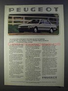 1980 Peugeot 505 Diesel Car Ad - Ride Quality is Superb