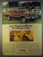 1980 Jeep Wagoneer Limited Ad - The Ultimate Wagon