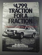 1980 Subaru 4 Wheel Drive Hatchback Ad - Traction