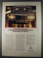 1980 Mercedes-Benz Cars Ad - Relentlessly Efficient