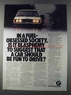 1980 BMW 320i Car Ad - Fuel-Obsessed Society