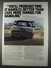 1980 Volvo Cars Ad - It Handles Better