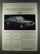 1980 Audi 5000 Car Ad - Extended-Use Report