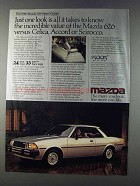 1980 Mazda 626 Sport Coupe Ad - One Look