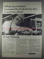 1980 Mazda Cars and Trucks Ad - Increased Productivity