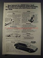 1980 Saab 900 Car Ad - Your Interest In