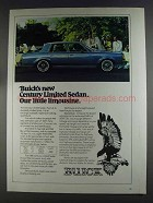 1980 Buick Century Limited Sedan Ad - Little Limousine