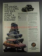 1980 Fiat Strada Ad - Goes a Long Way Back
