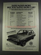 1980 Fiat Brava Ad - Does $4,000 More Buy More