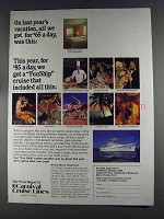 1980 Carnival Cruise Lines Ad - Last Year's Vacation