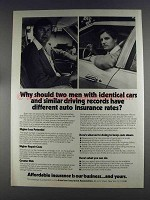1980 American Insurance Association Ad - Identical Cars