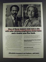 1980 American Insurance Association Ad - These Mayors