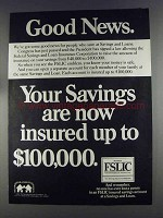 1980 Federal Savings and Loan Insurance Corporation Ad
