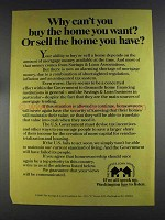 1980 The Savings & Loan Foundation Ad - Buy the Home