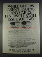 1980 Diners Club International Ad - Others Aren't