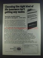 1980 The Bankers Life Ad - Choosing Right Insurance