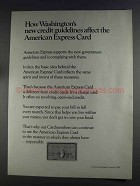 1980 American Express Card Ad - New Credit Guidelines