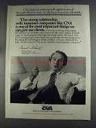 1980 CNA Insurance Ad - Our Strong Relationship