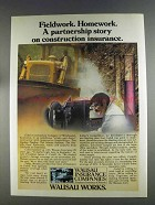 1980 Wausau Insurance Ad - Fieldwork Homework