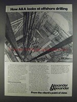 1980 Alexander & Alexander Ad - Offshore Drilling