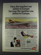 1980 TWA Airline Ad - Number One Airline to Europe
