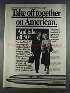 1980 American Airlines Ad - Take Off Together
