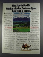 1980 Air New Zealand Ad - Walk a Glacier