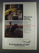 1980 United Airlines Ad - With a Little Help