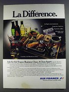 1980 Air France Ad - La Difference