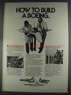 1980 Boeing 767 Airplane Ad - How to Build