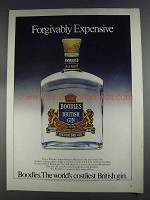1980 Boodles Gin Ad - Forgivably Expensive