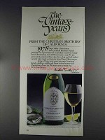 1980 Christian Brothers Napa Valley Chardonnay Wine Ad
