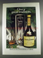 1980 Christian Brothers Brandy Ad - Great Tradition