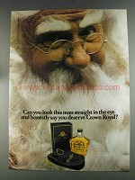 1980 Seagram's Crown Royal Ad - Look Man in Eye