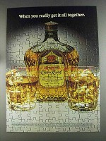 1980 Seagram's Crown Royal Ad - Get it All Together