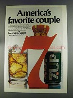 1980 Seagram's 7 Crown Whiskey Ad - Favorite Couple