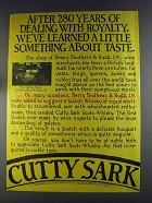 1980 Cutty Sark Scotch Ad - Dealing With Royalty