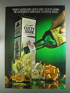 1980 Cutty Sark Scotch Ad - Be Generous Give Back