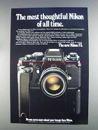 1980 Nikon F3 Camera Ad - Most Thoughtful
