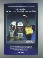1980 Seiko Duo Display Quartz Watches Ad - New Look