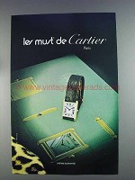 1980 Cartier Watch Ad - Les Must de Cartier