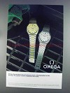 1980 Omega Constellation Watch Ad - DD 398 0852