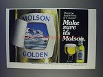 1980 Molson Golden Beer Ad - Thirsting For the Best