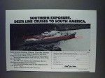 1980 Delta Line Cruises Ad - Southern Exposure