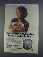 1980 Chicken of the Sea Tuna Ad - Approved by Uncle Sam